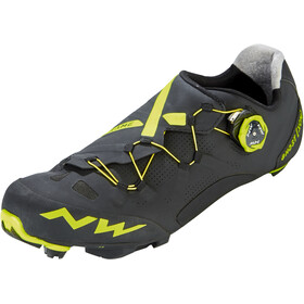 Northwave Ghost XCM Shoes Herren black/yellow fluo